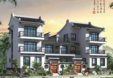 农村新中式3层别墅 可独栋可双拼 带庭院含平面图