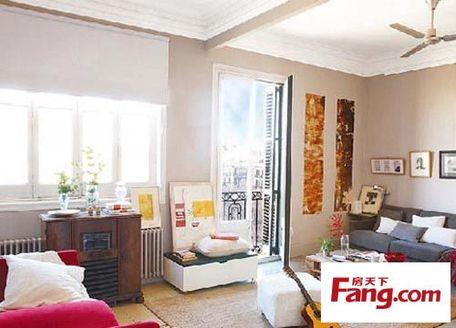 70平米小房间布置 缤纷色彩设计活力四射